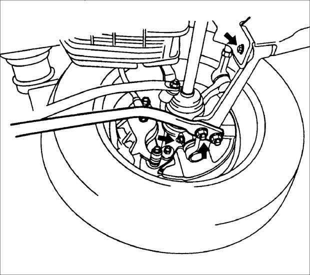 Ремонт Киа Рио : Проверка элементов передней подвески Kia Rio