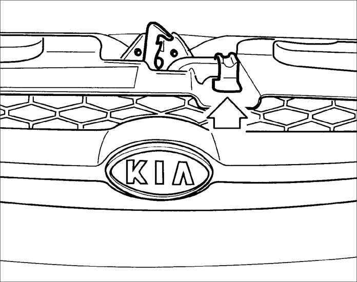 Ремонт Киа Рио: Капот Kia Rio. Описание, схемы, фото