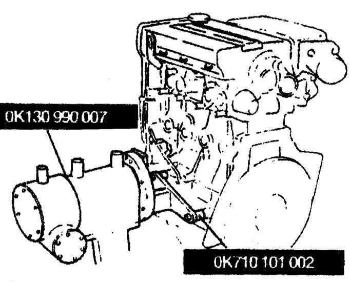 Ремонт Киа Кларус : Снятие и установка с двигателя