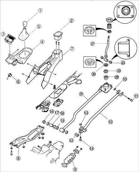 Ремонт Киа Сефия : Механизм переключения передач Kia Sephia