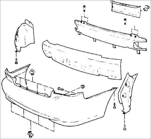 Ремонт Киа Сефия : Задний бампер Kia Sephia