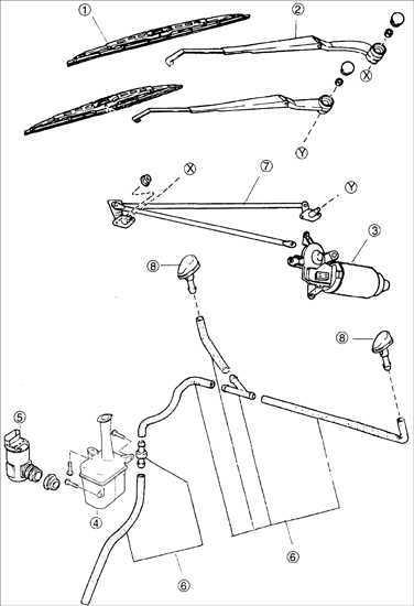 Ремонт Киа Сефия : Шланги омывателя ветрового стекла Kia
