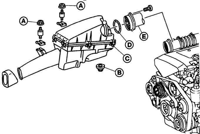 Ремонт Мерседес 124 : Кожух воздушного фильтра Mercedes W124