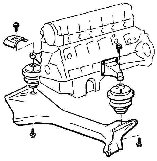 Ремонт Мерседес 124: Проверка и замена опоры силового