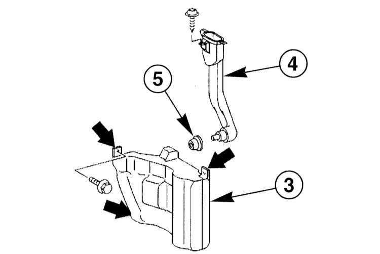 Ремонт Мерседес 203 : Снятие и установка резервуара воды и