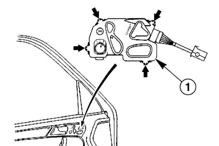 Ремонт Мерседес 203 : Снятие и установка выключателей в