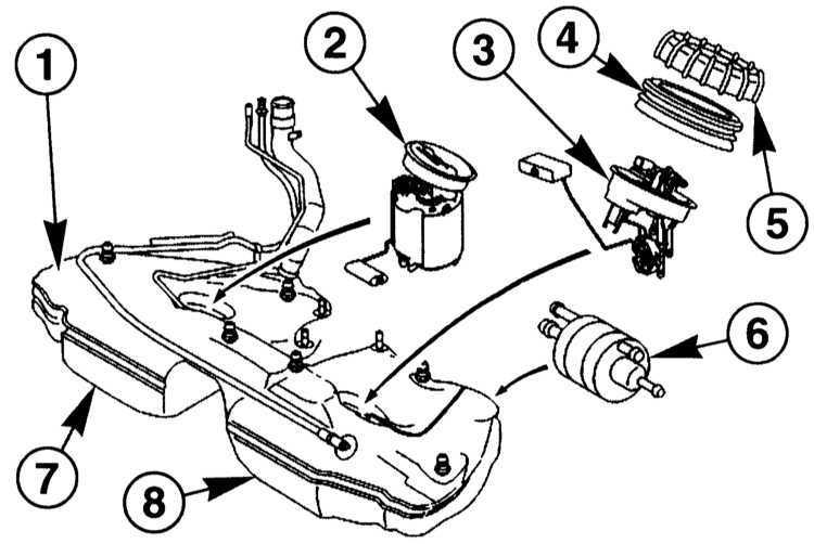 Ремонт Мерседес 203 : Снятие и установка топливного насоса