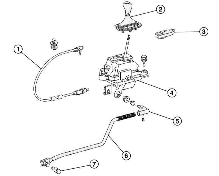 Ремонт Мерседес 203 : Снятие и установка рычага селектора