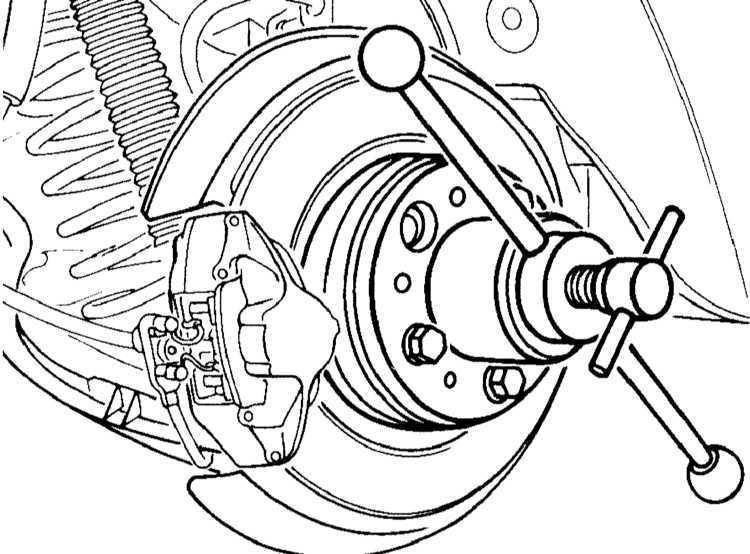 Ремонт Мерседес 203 : Снятие и установка приводных валов