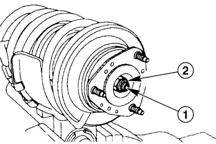 Ремонт Мерседес 203 : Ремонт стойки подвески передних