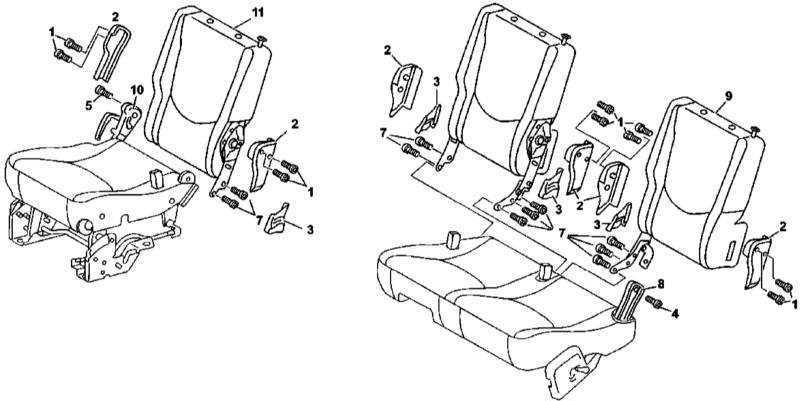 Ремонт Мерседес 163 : Снятие и установка спинок сидений
