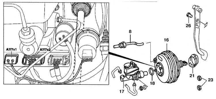 Ремонт Мерседес 220 : Вакуумный усилитель Mercedes W220