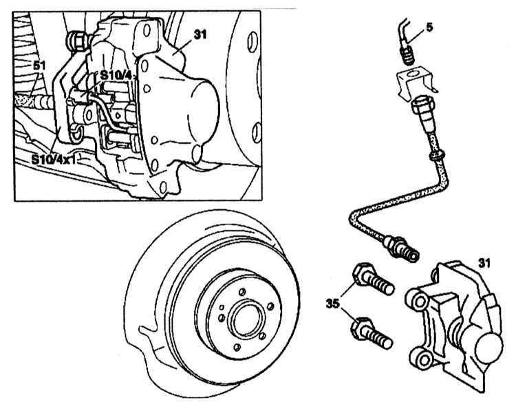 Ремонт Мерседес 220 : Тормозной суппорт Mercedes W220