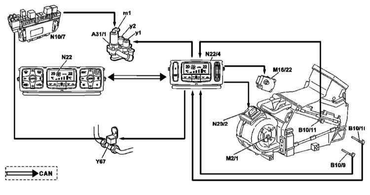 Ремонт Мерседес 220 : Система кондиционирования воздуха