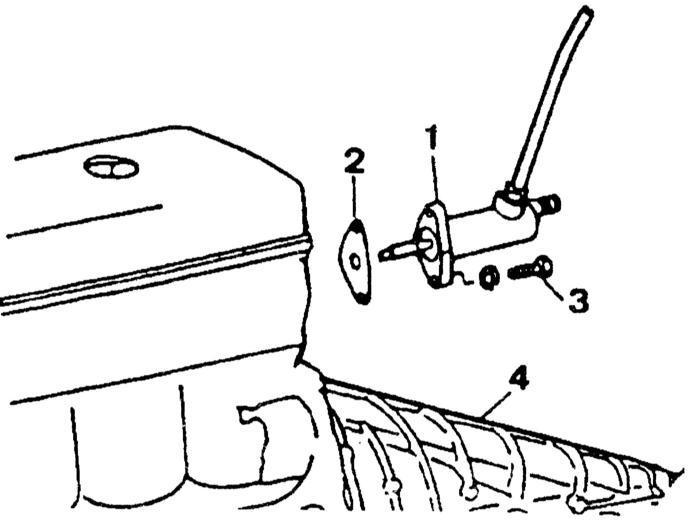 Ремонт Мерседес 123 : Привод сцепления Mercedes W123
