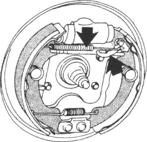 Ремонт Митсубиси Кольт : Тормозные колодки барабанных