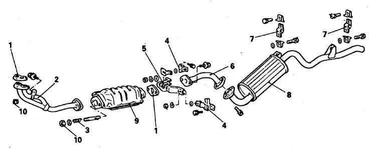 Ремонт Митсубиси Паджеро : Выхлопная система Mitsubishi Pajero