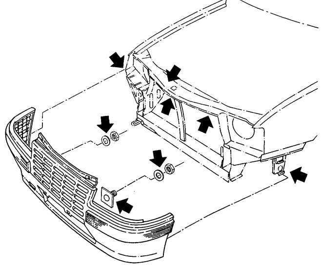 Ремонт Опель Кадет : Снятие и установка передней отделки