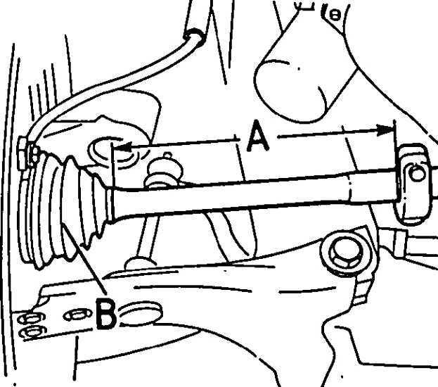 Ремонт Опель Кадет : Снятие и установка приводного вала