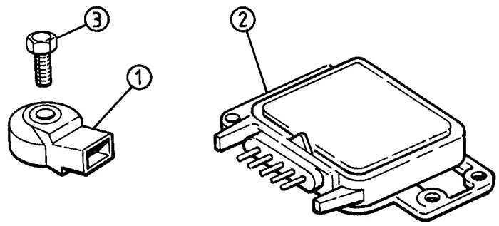 Ремонт Опель Вектра : Датчик детонации и модуль (модели