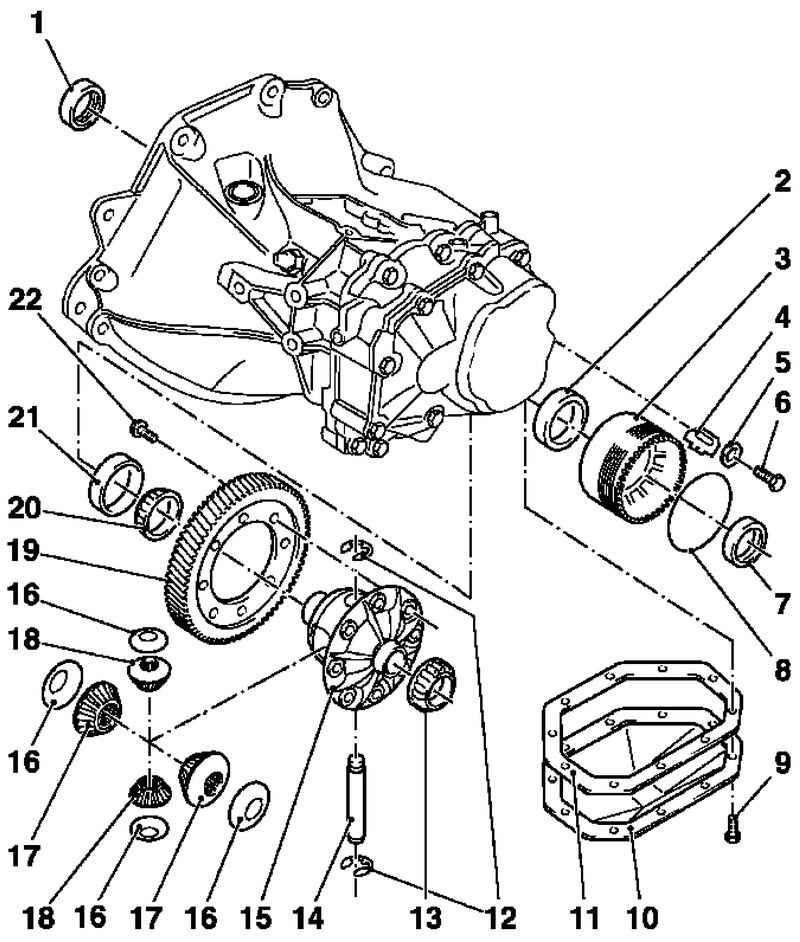 Ремонт Opel Astra Опель Астра : Механическая коробка передач