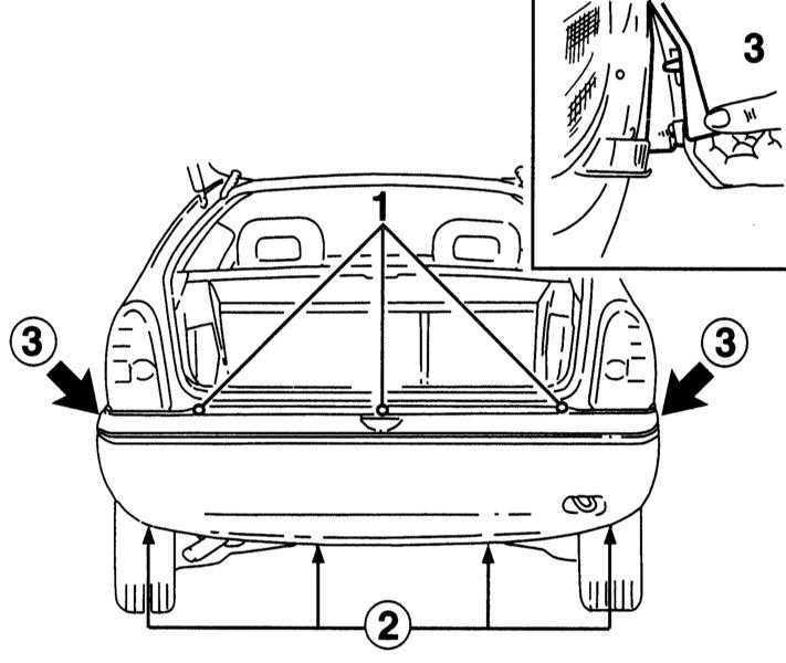 Ремонт Опель Корса : Снятие и установка накладки и несущей