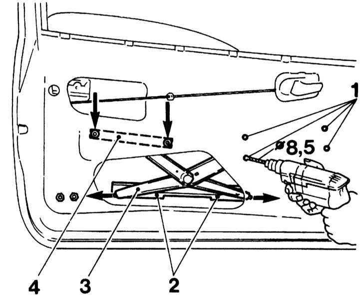 Ремонт Опель Корса : Снятие и установка стеклоподъемника