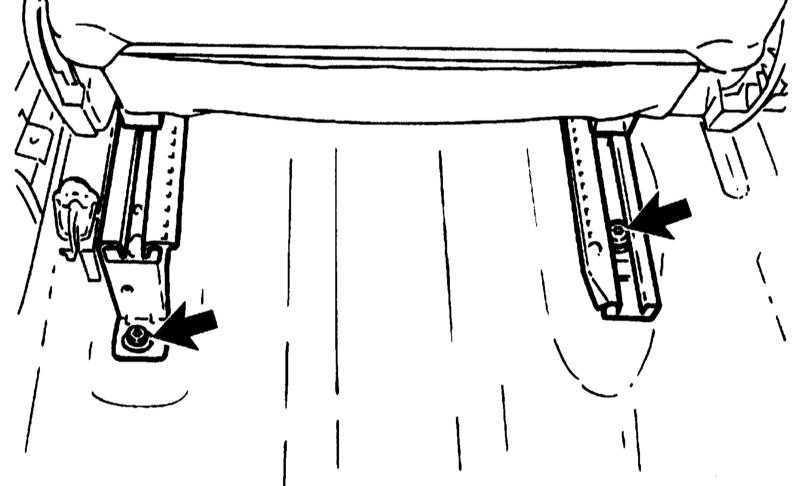 Ремонт Опель Корса : Снятие и установка переднего сиденья