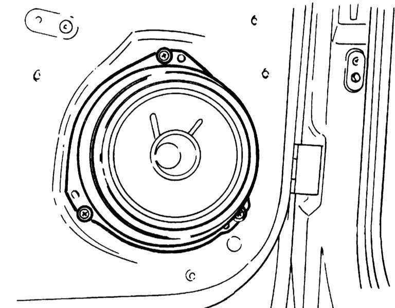 Ремонт Опель Корса : Снятие и установка динамиков Opel Corsa