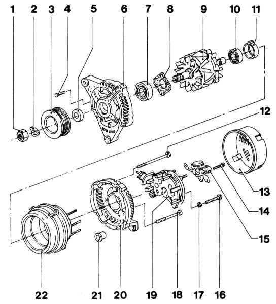 Ремонт Опель Корса : Снятие и установка генератора Opel Corsa