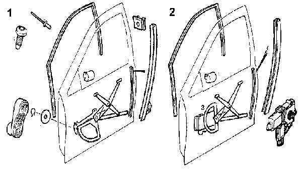 Ремонт Опель Вектра : Стеклоподъемник двери Opel Vectra B