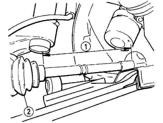 Ремонт Опель Астра : Снятие и установка полуосей Opel Astra A