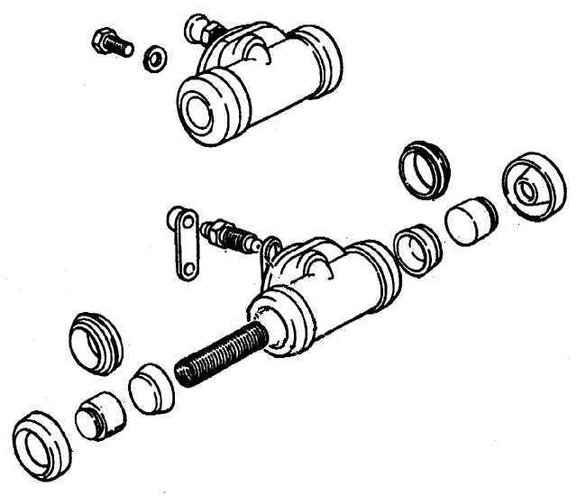 Ремонт Пежо 405 : Задний тормозной цилиндр Peugeot 405