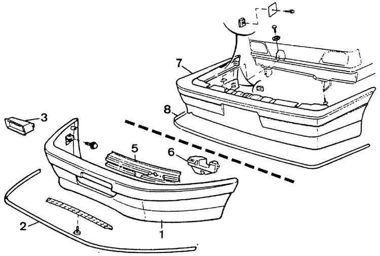 Ремонт Пежо 405 : Передний бампер Peugeot 405