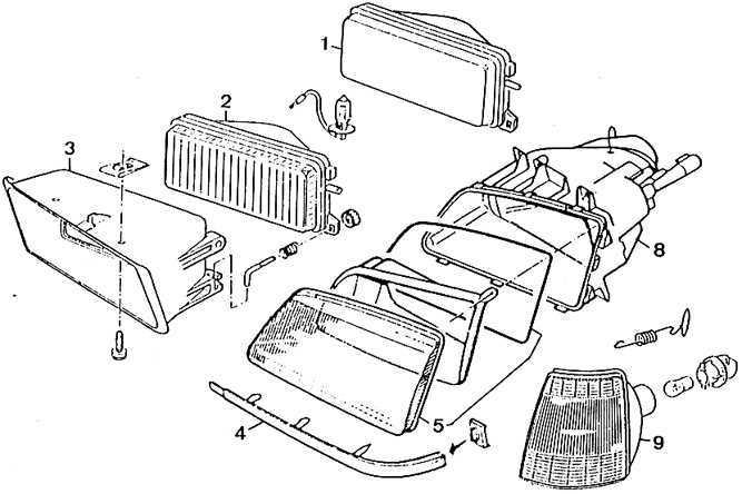 Ремонт Пежо 405 Замена фары и указателя поворотов Peugeot 405