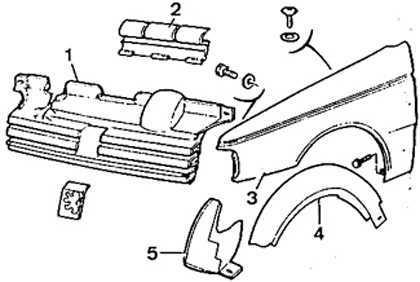 Ремонт Пежо 405 Замена переднего крыла Peugeot 405