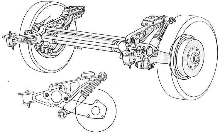 Ремонт Пежо 405 : Снятие и установка задней подвески