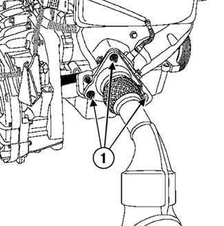 Ремонт Рено Меган 2 : Система выпуска отработавших газов