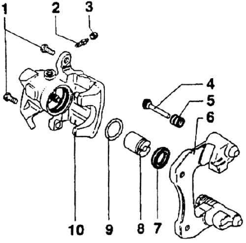 Ремонт Шкода Октавия : Тормоза задних колес дисковые Skoda