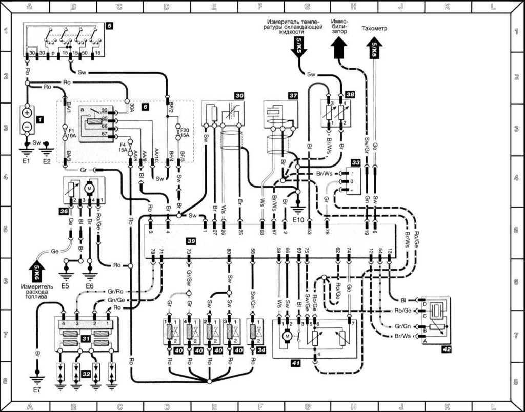 Ремонт Шкода Фелиция : Схемы электрических соединений