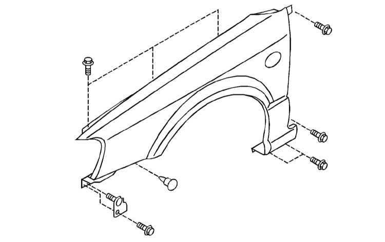 Ремонт Субару Легаси : Снятие и установка передних крыльев
