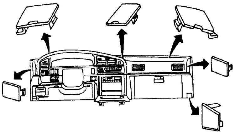 Ремонт Subaru Legacy Субару Легаси : Элементы панели приборов