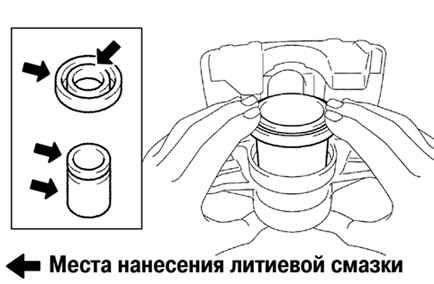 Ремонт Тойота Камри Замена передних тормозных колодок