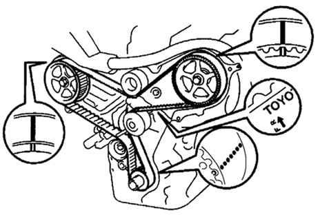 Ремонт Тойота Камри : Снятие ремня привода ГРМ Toyota Camry