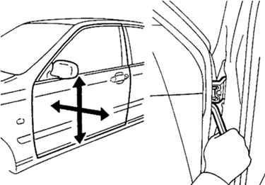 Ремонт Тойота Камри : Регулировка передних дверей Toyota Camry