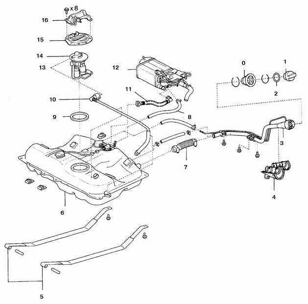 Ремонт Тойота Камри : Топливный бак Toyota Camry