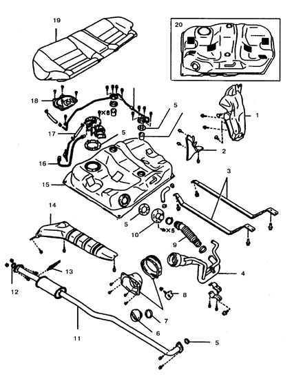 Ремонт Тойота Королла : Топливный бак Toyota Corolla