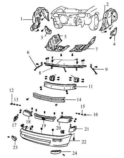 Ремонт Тойота Королла : Бамперы Toyota Corolla