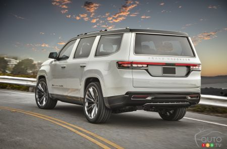 The Jeep Grand Wagoneer concept, rear