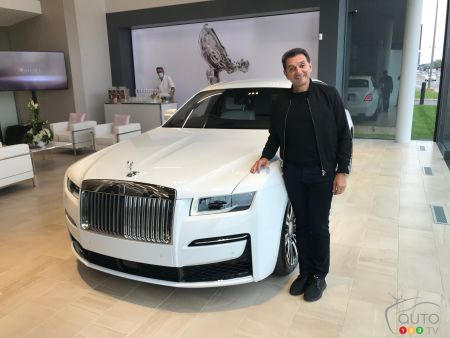 Gad Bitton with the 2021 Rolls-Royce Ghost AWD